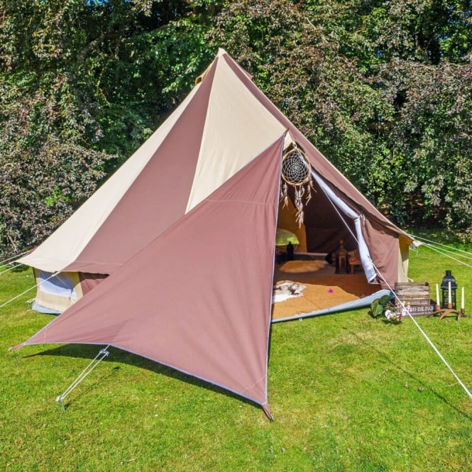 Bell Tent Triangle Tarp - Chocolate Brown