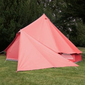 Bell Tent Triangle Tarp - Coral Red