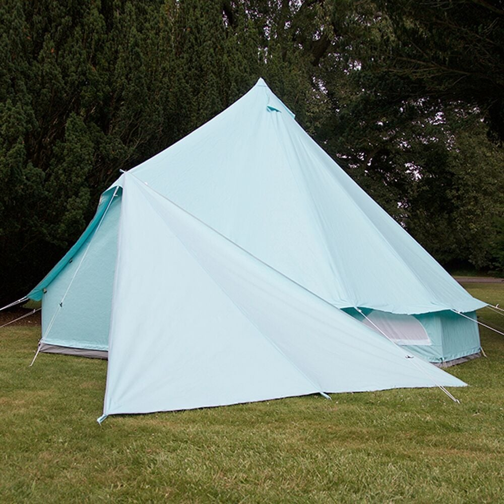 Boutique C&ing Tents Bell Tent Triangle Tarp - Blue & Bell Tent Triangle Tarp - Sandstone