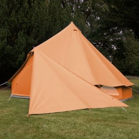 Bell Tent Triangle Tarp - Tangerine Orange