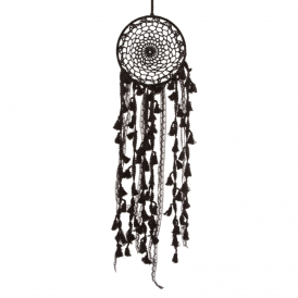 Black Boho Macramé Dreamcatcher