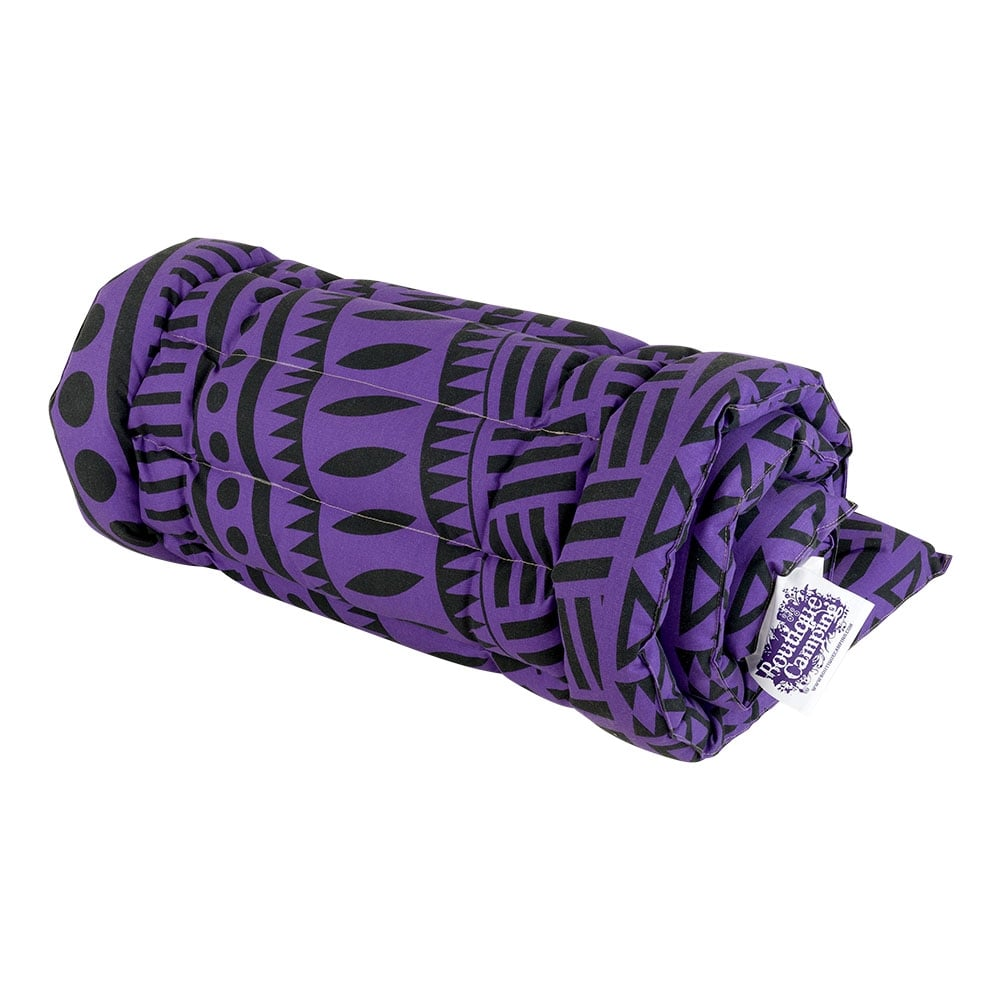 Boutique Roll Up Camping Bed Purple Rain