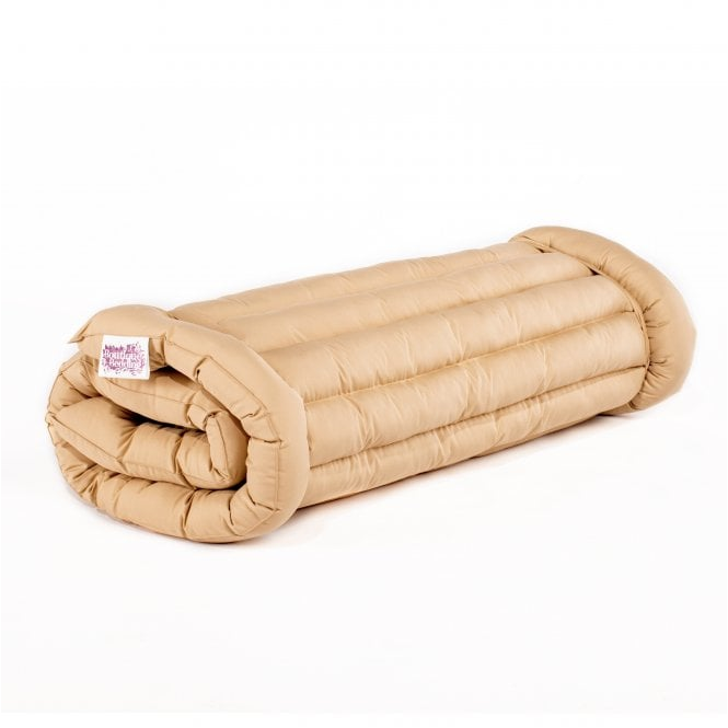 Boutique Roll Up Oxford Camping Bed - Sandstone