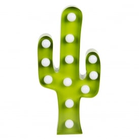 Cactus LED Light Wall Decoration Green