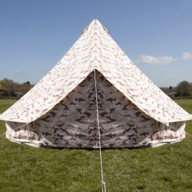 Boutique Camping Camo Bell Tent With Zipped in Ground Sheet