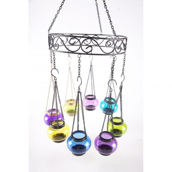 Coloured Tea Light Chandelier Blank Frame - Products from Boutique ...