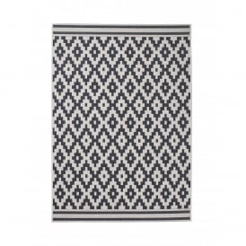 Boutique Camping Cottage Rug - Black