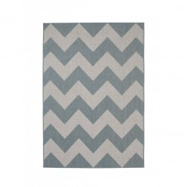Boutique Camping Cottage Rug - Blue