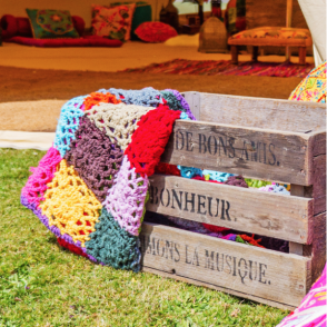 Boutique Camping Crochet Blanket