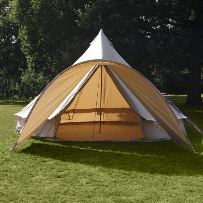 Curved Canopy for Bell Tent - Sandstone (1m Wide)