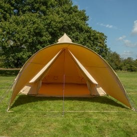 Boutique Camping Tents Curved Canopy for Bell Tent - Sandstone (2m Wide)