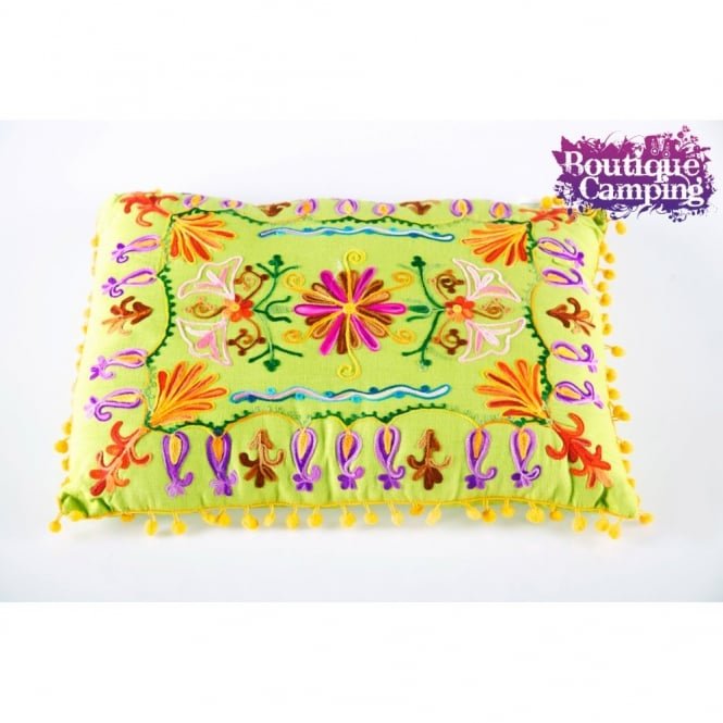 Embroidered Cushions - Lime