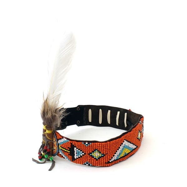 Feather Beaded Indian Headband Boutique Camping From
