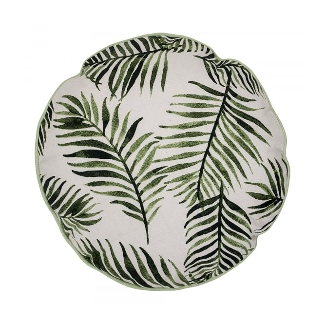 Fern Leaf Round Decorative Cushion