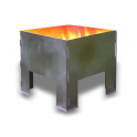 Flat Packed Portable Fire Pit