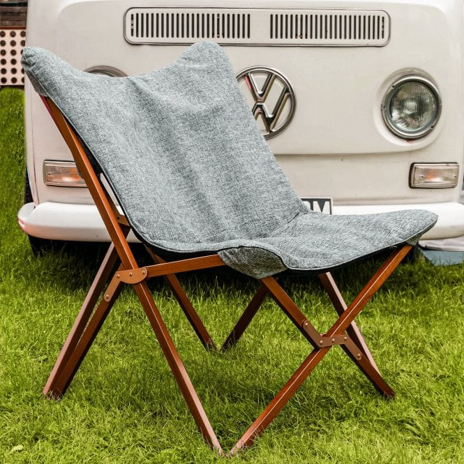 Foldable Camping Chair - Grey