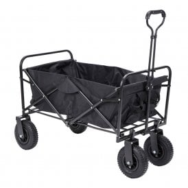 Boutique Camping Folding Black Wagon - Black