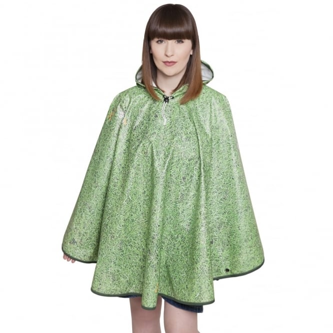 Grass is Greener Grass Print Poncho