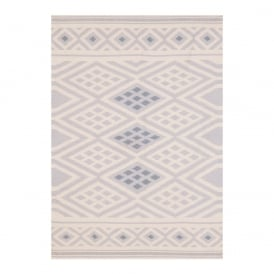Boutique Camping Grey Aztec Diamond Moroccan Kilim Rug
