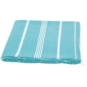 Waltons of Yorkshire Hammam Throw Turquoise