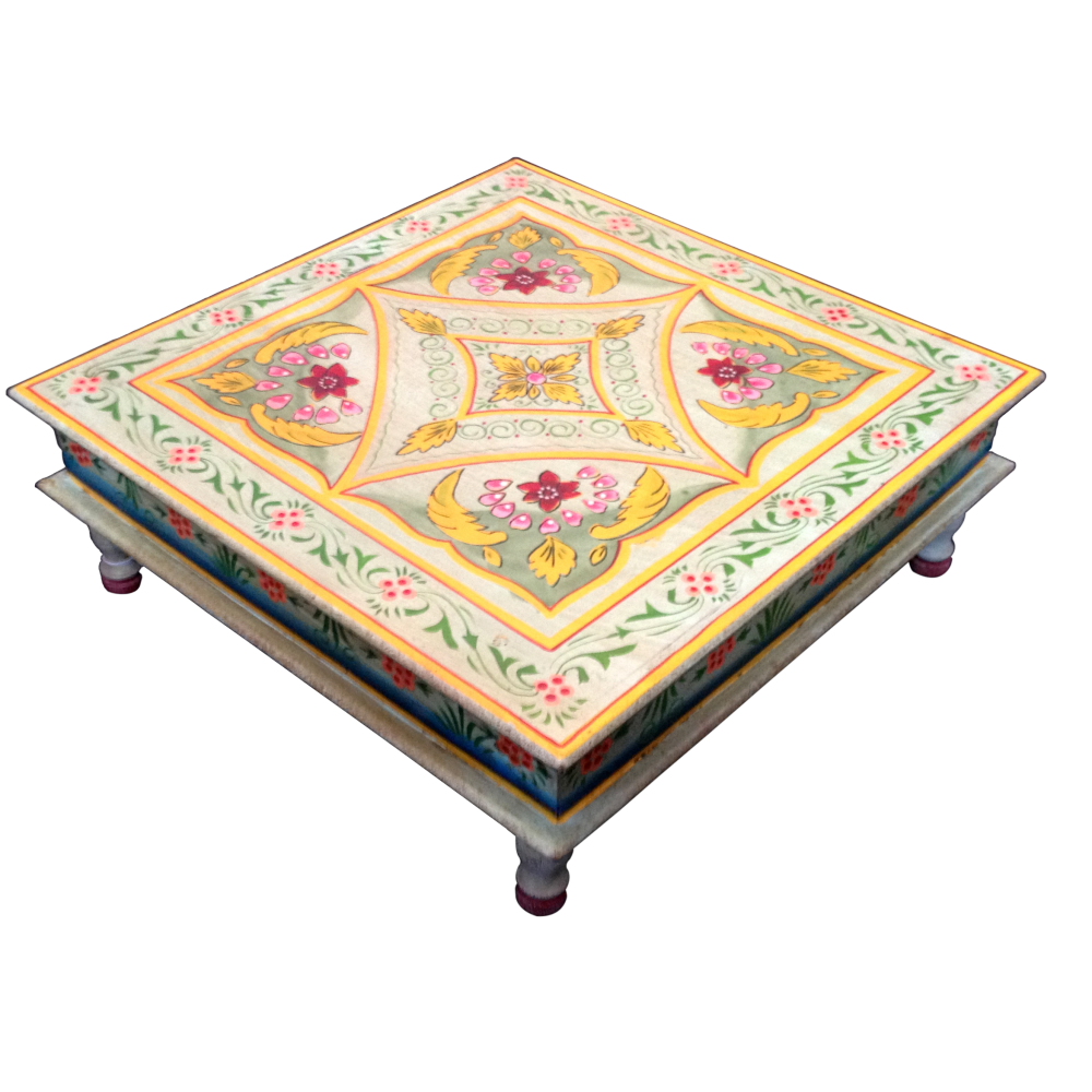 Indian Coffee Table Hand Painted Indian Coffee Table Coffee Addicts