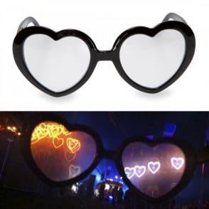 Boutique Camping Heart Glasses - Heart Firework Lens