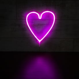 Heart LED Neon Light - Pink