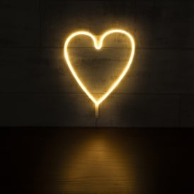 Heart LED Neon Light - White