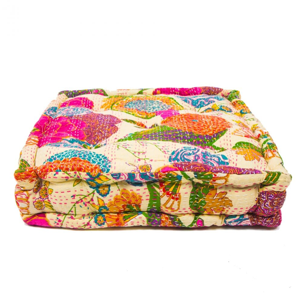 Indian Flower Floor Cushion Boutique Camping From