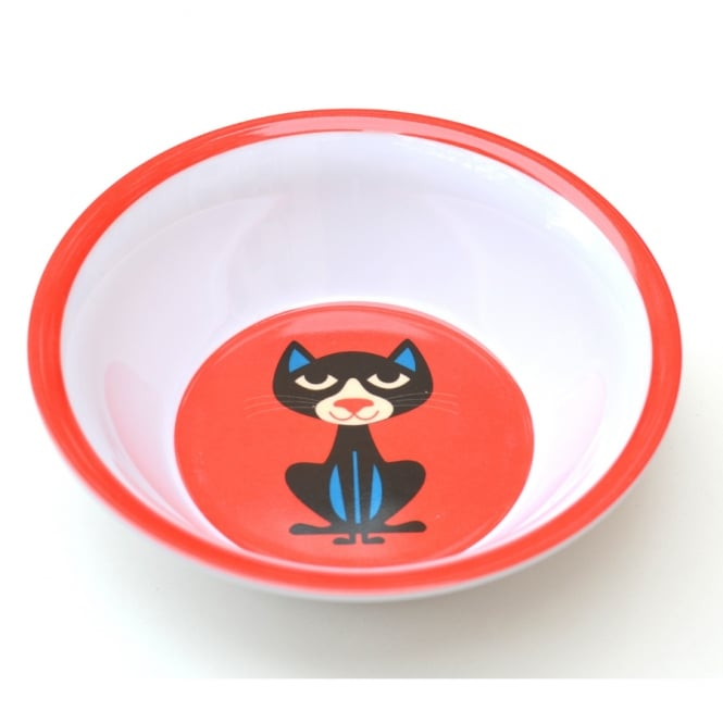 Ingela P Arrhenius Cat Melamine Bowl - Red