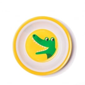 Ingela P Arrhenius Crocodile Melamine Bowl - Yellow