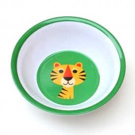 Boutique Camping Ingela P Arrhenius Tiger Melamine Bowl - Green