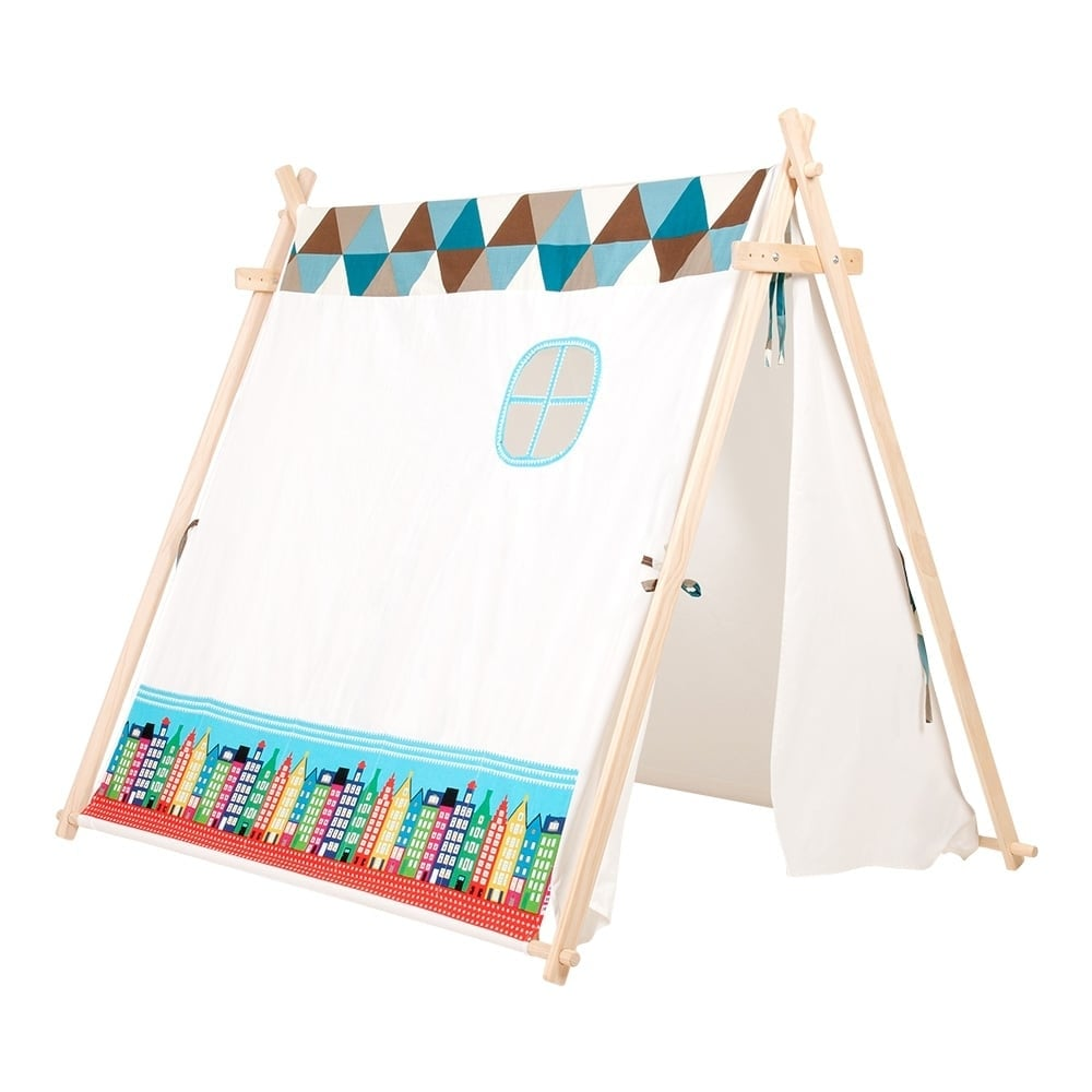 Boutique C&ing Kids Large Tent With Houses - Blue  sc 1 st  Boutique C&ing & Kids Large Tent With Houses - Blue