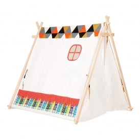 Kids Large Tent With Houses - Red