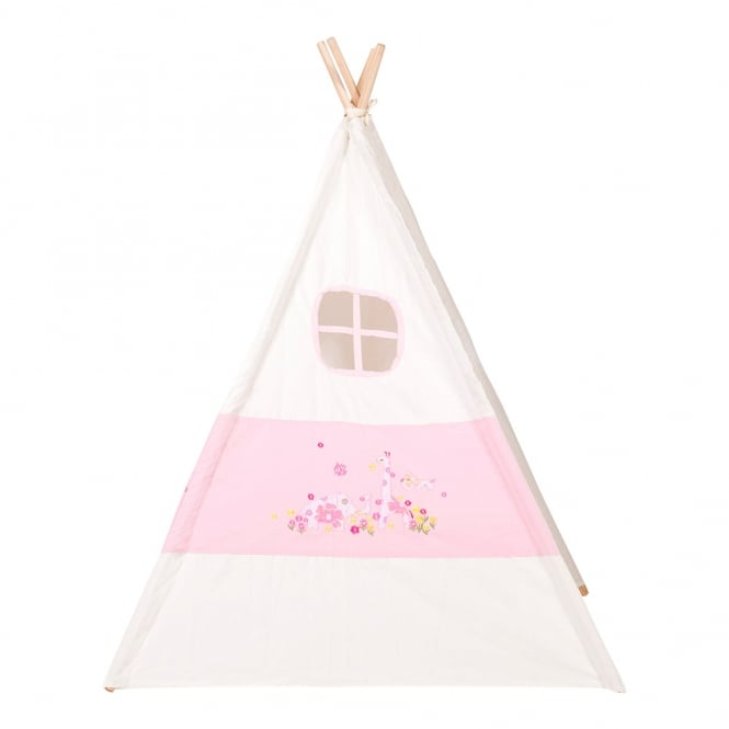 Kids Teepee Embroidered Tent - Pink