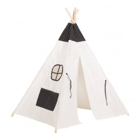 Kids Teepee Tent With Stars - Navy