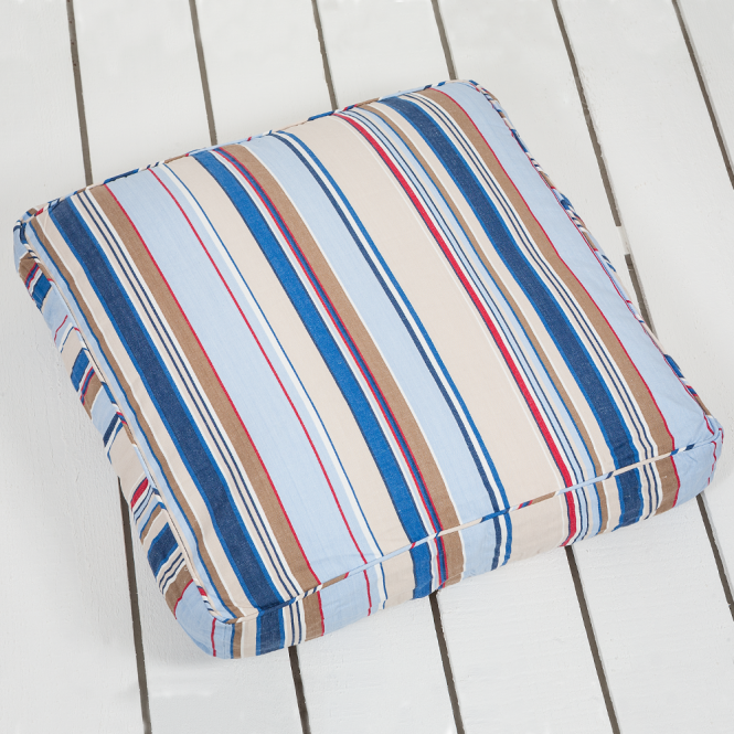large piped striped floor cushion trapeze