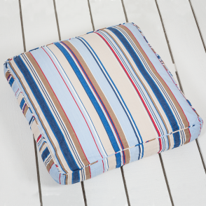 Large Piped Striped Floor Cushion - Trapeze