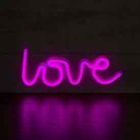 Love LED Neon Light Sign - Pink