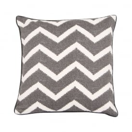 Boutique Camping Malini Zigzag Cushion Slate