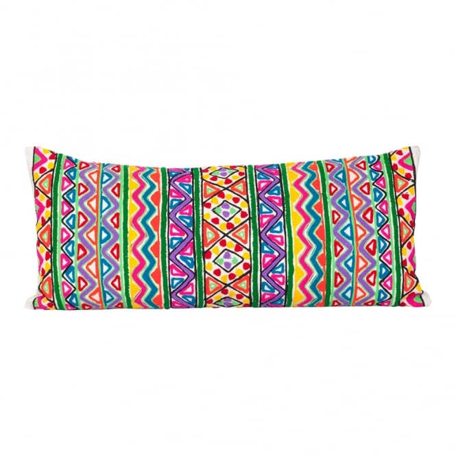 Multicoloured Woollen Embroidery Cushion