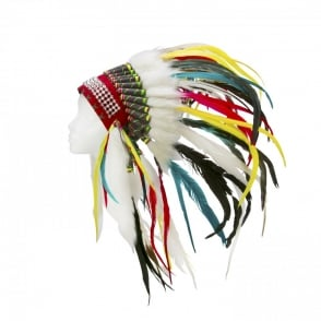 Boutique Camping Native American Indian War Headdress - Rainbow