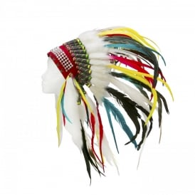 Native American Indian War Headdress - Rainbow