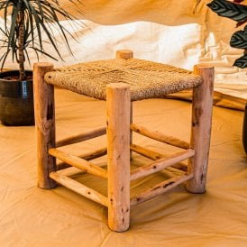 Boutique Camping Natural Wooden Weaved Stool