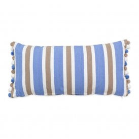 Oblong Cushion with Bobble Fringe