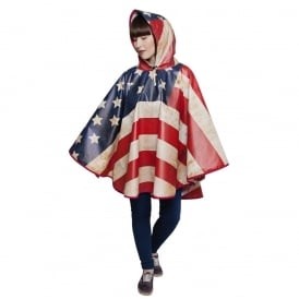 Old Glory American Flag Poncho