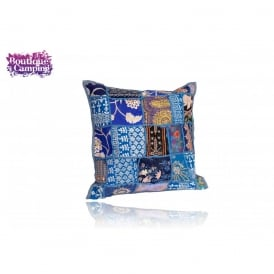 Patchwork Indian Cushions - Blue