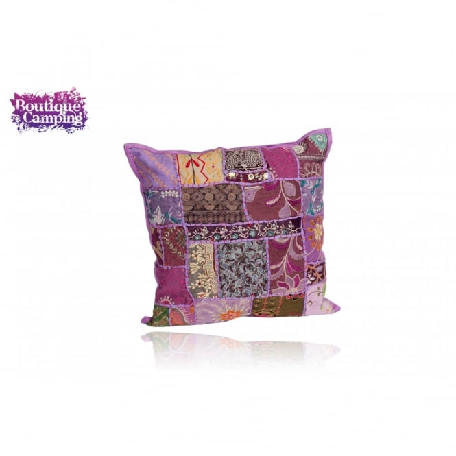 Patchwork Indian Cushions - Purple