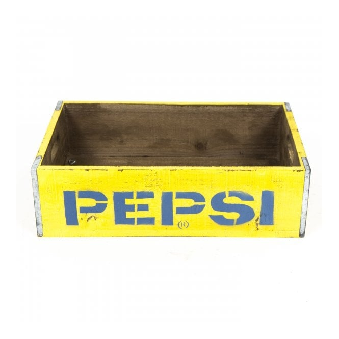 Pepsi Yellow Vintage Style Crate