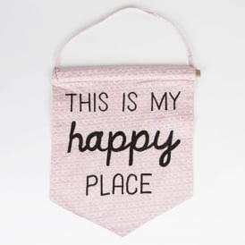 Pink 'This is My Happy Place' Pastel Banner